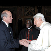 President Jim Cavnar with Pope Benedict XVI