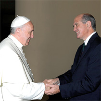 Jim Cavnar with Pope Francis