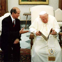 Jim with Pope John Paul