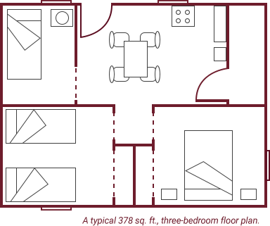 Floor plans for the homes being provided in the Dominican Republic