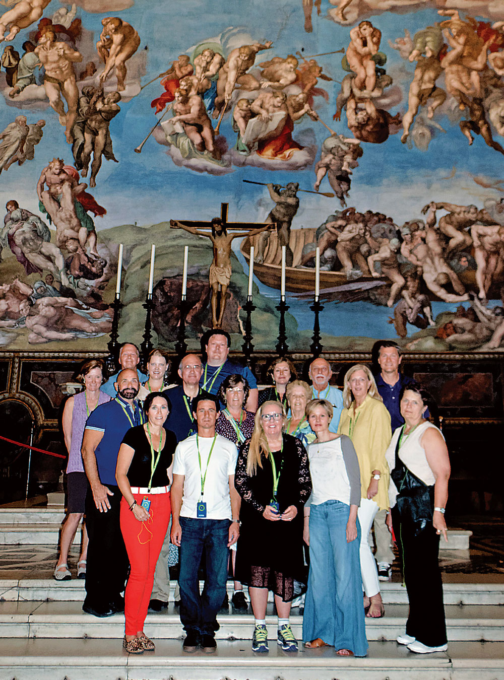 Cross Catholic Outreach pilgrims at the Sistine Chapel
