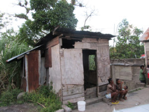 An example of the housing conditions poor families face in Grenada.