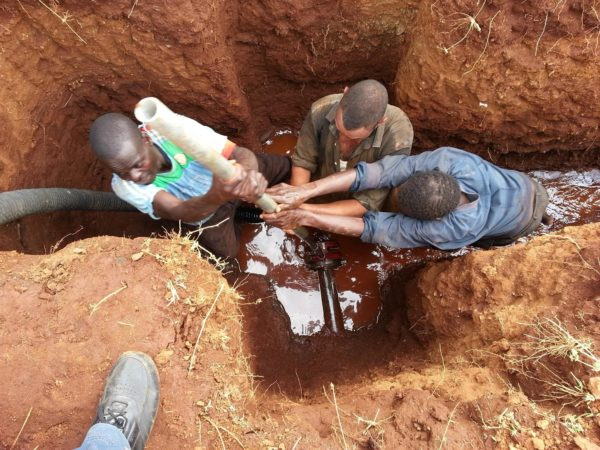 These guys are threading pipe for a water distribution project in Kenya. Once it's done, the animals, agriculture and health of the people there will thrive, and their quality of life will skyrocket.