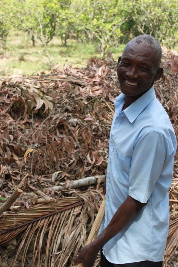 Kobonal Haiti Mission has taught the rural poor like Lucklis how to compost, plant and maintain a farm.