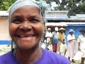 The poor and elderly in Kobonal, Haiti are receiving the food they need to stay strong and healthy.