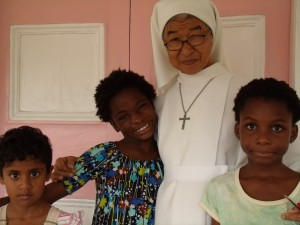 Sr. Mary Peter runs St. Ann's Home in Georgetown Guyana, and she easily rises to every challenge her young charges present.