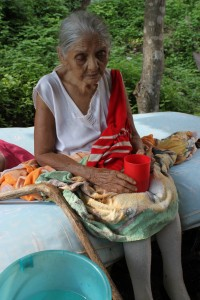 Lidia is 100 years old and has cataracts in both eyes