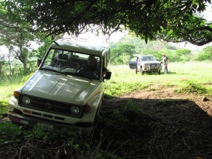 A winch comes in handy when traveling through rural Nicaragua.