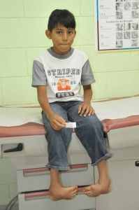 Another child, Isaiah, was healed at CURE Honduras thanks to the support of generous Christians through Cross International.