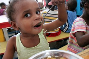 """There's nothing better than seeing the smiling face of a happy, well-fed child."""