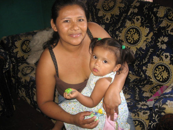 Maria with her daughter, Cristal
