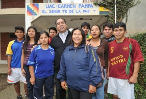 About 700 students from extremely rural and impoverished communities are excited to begin a new school year at Carmen Pampa University.