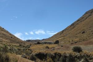 The mountains outside Cochabamba.