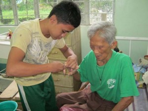 The spirit of St. Francis of Assisi lives on through the outreach of Filipino scholarship students.
