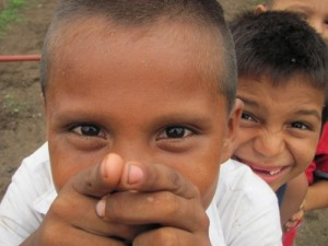 School boys on a playground in rural Nicaragua