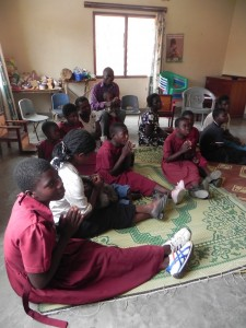 An attentive class at the Chisombezi Deaf-Blind Center.