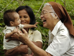 Mother Joan carries out the important work of caring for the poor in the Philippines