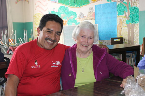 Carlos Gomez (right) and Mother Miguel Conway (left), co-founder of the project.