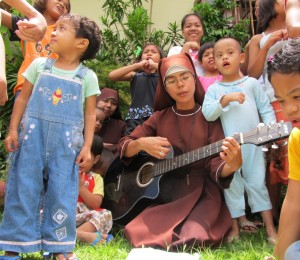 Sr. Venice at Queen of Peace Children's Home in the Philippines.