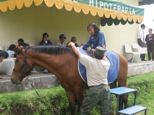 One of the most innovative treatments used at Antorcha de Vida is hippotherapy, or therapy through horseback riding.