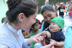 Sr. Irma helps run a Cross Catholic Outreach-supported feeding program in Guatemala.