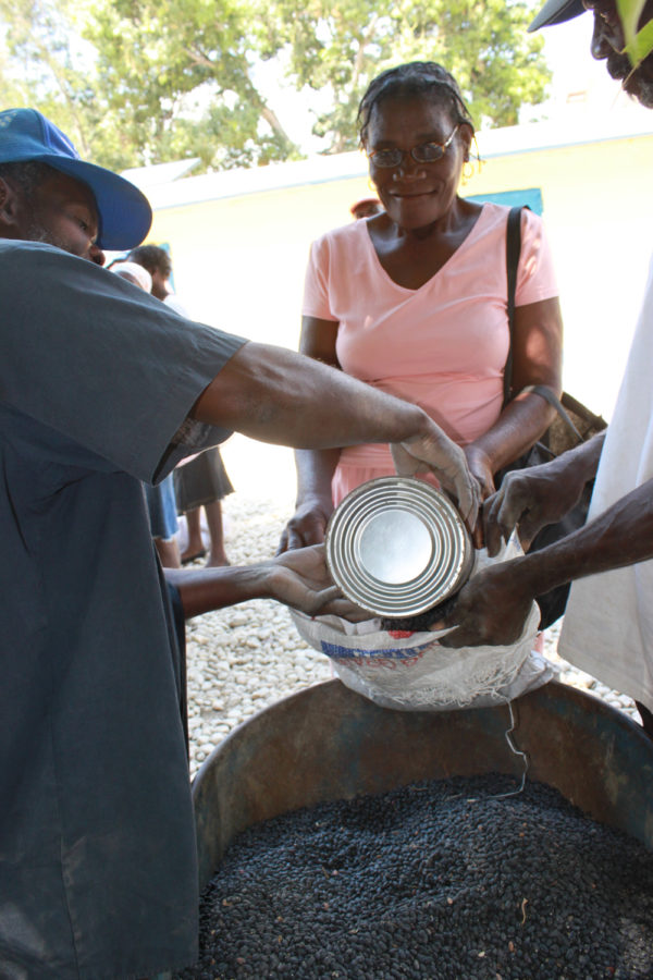 Pridancia is grateful for the food provided to her at Kobonal Haiti Mission!