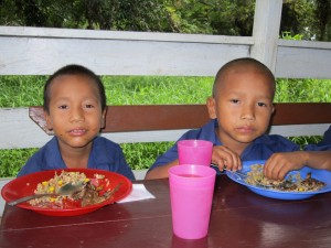 Thanks to Cross Catholic and our generous benefactors, young brothers Gerard and Fabian Campbell are benefitting from nutritious food and education at Santa Rosa Catholic Church in rural Guyana.
