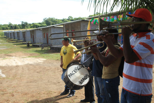 The new housing development resounds with songs of celebration.