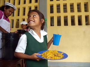 Elementary students in rural Guyana raised their achievement level significantly once they started getting a hearty lunch sponsored by Cross International Catholic Outreach.