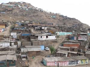 A slum in Peru