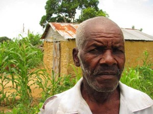 "70-year-old Ariluse depends on charity for basic food staples to supplement what he grows as a sharecropper. ""I'd rather not eat than miss Mass,"" he says."