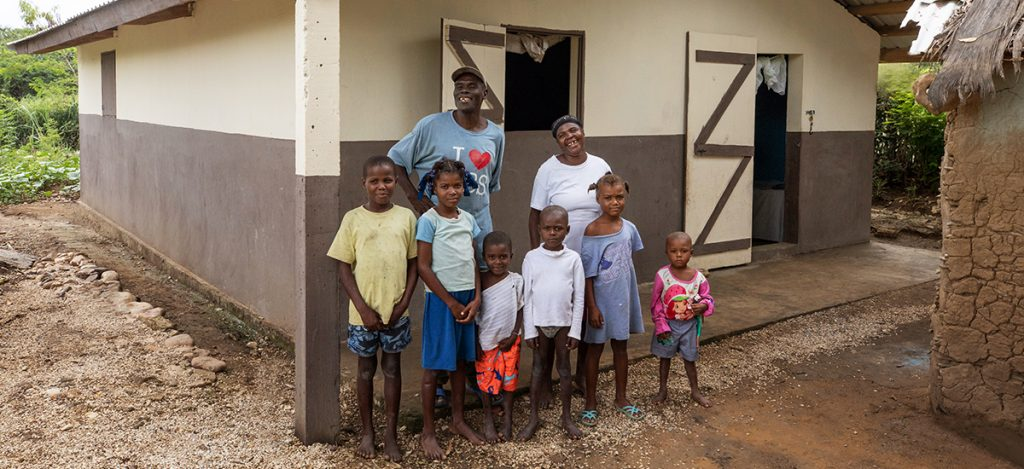 A family of 8 in Kobonal, Haiti
