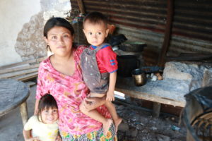 Olga Garcia prays that her children will have a better life that she has had.