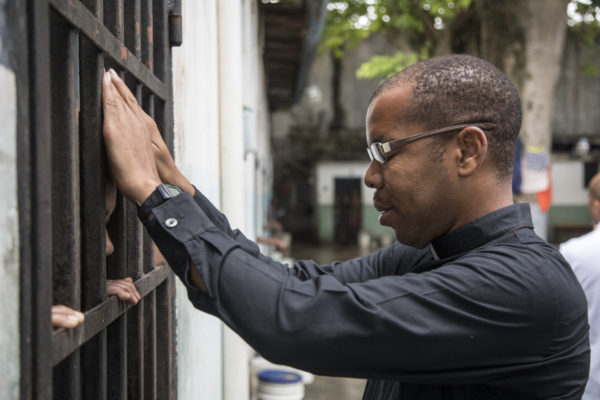 Fr.Yves at Grand Riviere Prison