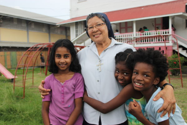 I recently returned from Guyana, where I visited Sr. Leonie and the spunky group of girls living at St. Ann's Orphanage in the capitol city of Georgetown. At the home, orphaned, abandoned or displaced girls are educated, cared for, and raised in the Catholic faith. At the orphanage, girls who have experienced pain and rejection find comfort in God's unconditional love. Cross Catholic Outreach is proud to partner with this life-changing ministry!