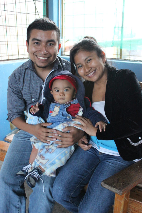 Carlos, Karla and their son André.