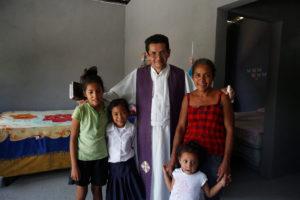 Hope of Life (Esperanza de Vida) housing in Teculutpan, Guatemala. Marina Mendez family .Fr. Francisco Murcia.