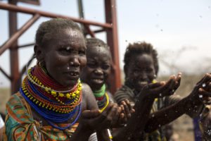 The Turkana people of Lodwar, Kenya celebrate the gift of clean water.