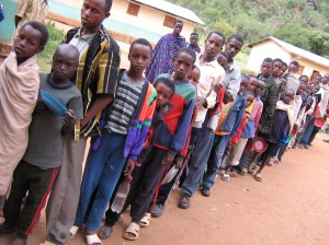 Borana Primary School feeding program, run by the Spiritan Fathers, provides daily nutritious meals to poor Ethiopian.