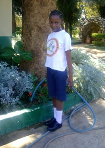 Through the help of the Kabulonga Cheshire Home and Cross International Catholic Outreach, Agness received a prosthetic limb.