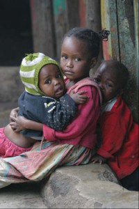 Poor Kenyan children depend on the support of our donors for education, medical care, and nutrition