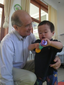 Cross Catholic President Jim Cavnar recently visited a Chinese orphanage for disabled children.