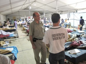 With tens and supplies from Cross International Catholic Outreach, Project Medishare was able to set up a makeshift hospital that is helping hundreds of earthquake victims in Port-au-Prince.