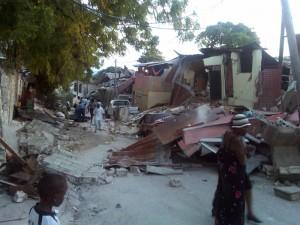 The street just outside Cross International Catholic Outreach's office in Port-au-Prince, Haiti.