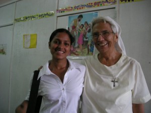 Sherry Joseph (left) was raised by Sister Beatrice (right) at St. Ann's Home in Guyana.