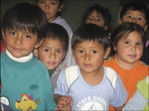 Cross Catholic supports the Working Boys' Center in Ecuador, where poor children get food, education, and the message of Christ's love.