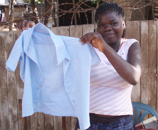 Zeinabo, a 15-year-old double AIDS orphan, started her own sewing business with training and equipment she received from Reencontro, a ministry we support in Maputo, Mozambique.