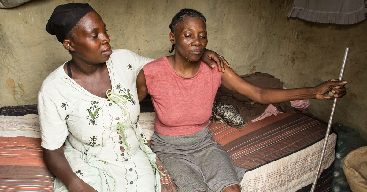 Rosenie's mother – a blind and paralyzed woman who must now depend fully on her family's support