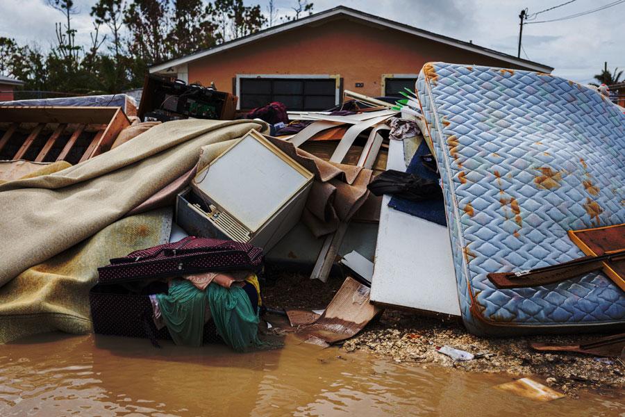 destruction from Hurricane Dorian
