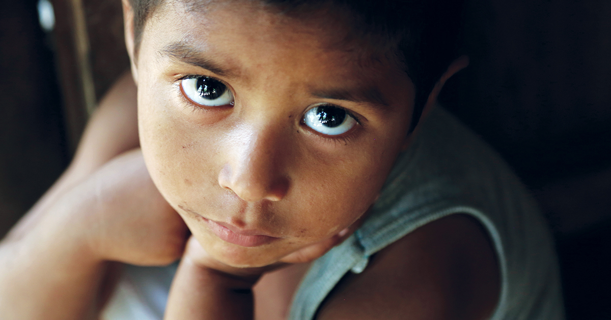 Vulnerable child in Guatemala